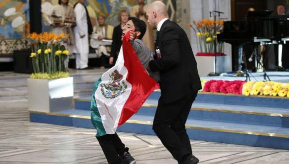 Noruega deportó a mexicano que irrumpió en entrega del Nobel