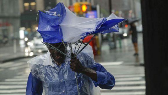 Las playas cerraron en Delaware y la lluvia azotó la costa de Nueva Jersey cuando la tormenta tropical Fay se movió rápidamente hacia el norte en un camino que se espera que empape la región de la ciudad de Nueva York. (Foto: AP/Frank Franklin II)