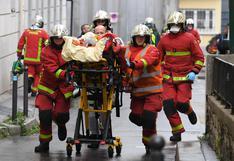 Charlie Hebdo: al menos dos heridos deja ataque con cuchillo cerca a exsede de la revista en París