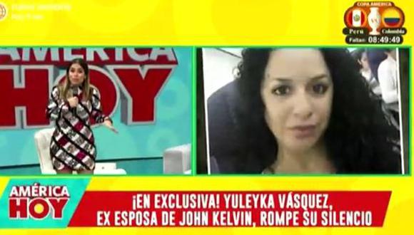 """Ethel Pozo tras mensaje de apoyo de Yuleika Vásquez a John Kelvin: """"No diría voy a estar de su lado"""". (Foto: captura de video)"""