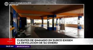 Surco: clientes exigen que gimnasio les devuelva dinero de membresía