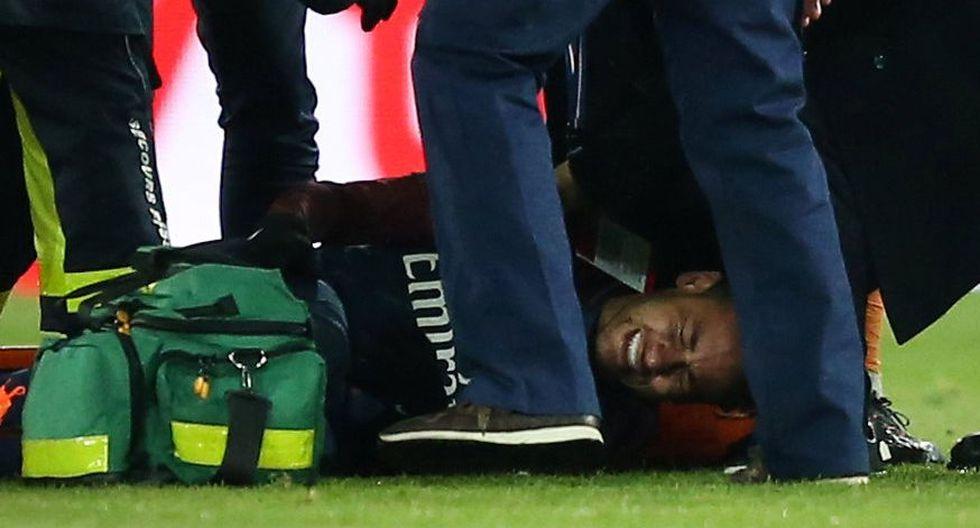 Neymar víctima de un esguince de tobillo a nueve días del PSG vs. Real Madrid. (Foto: AFP)