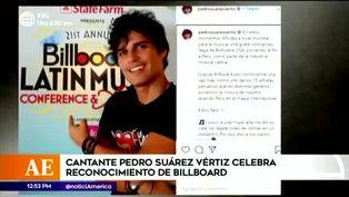 Pedro Suárez Vértiz celebra reconocimiento de Billboard