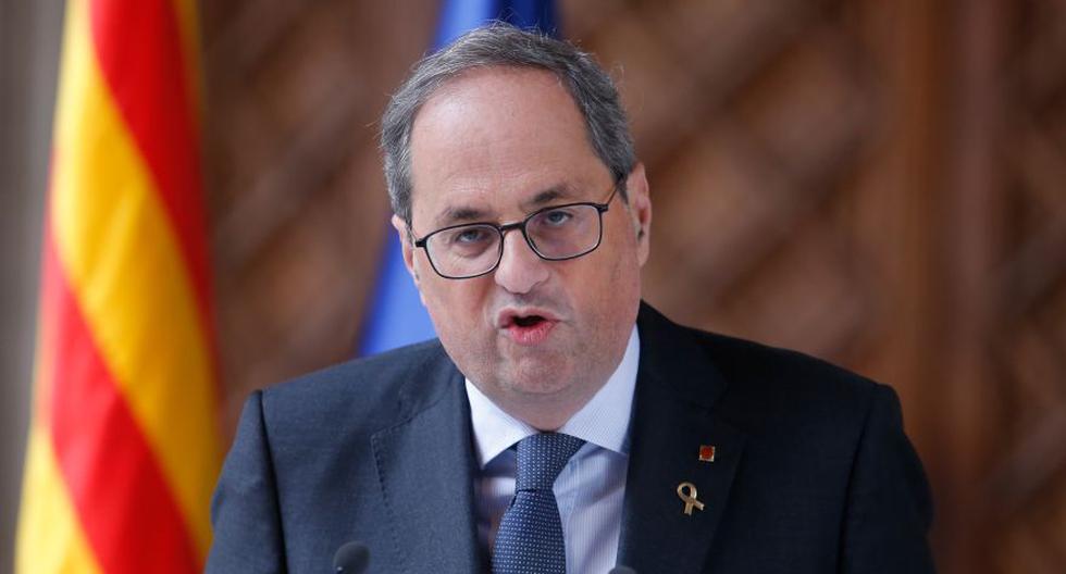 Quim Torra defendió que solo el parlamento regional, controlado por los separatistas, puede apartarlo de sus funciones. (Foto: Archivo/AFP).