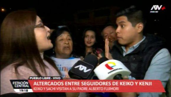 Policía Nacional viene resguardando la zona tras el enfrentamiento entre simpatizantes de Keiko Fujimori y Kenji Fujimori. (Video: ATV+)