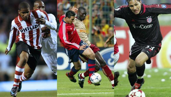 Los únicos jugadores nacionales que disputaron en los cuartos de final de la Champions League fueron Jefferson Farfán, Claudio Pizarro y Paolo Guerrero. (Foto: AFP)