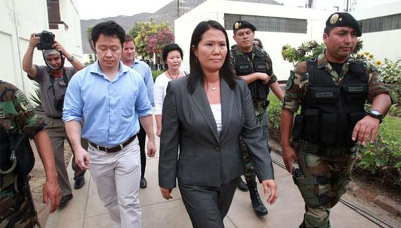 Kenji y Keiko Fujimori están distanciados desde hace varios meses. (Foto: Agencia Andina)
