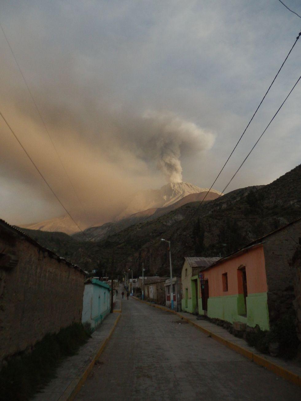 Hay centros poblados cerca del volcán Ubinas. (Foto: Ingemmet)