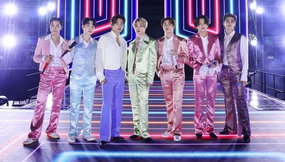"""BTS lanzó su disco """"BE"""" hace un mes y los temas """"Dynamite"""" y """"Life Goes On"""" están en los rankings mundiales de música. (Foto: American Broadcasting Companies, Inc. / AFP)"""