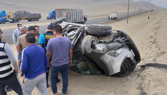 Agentes de serenazgo trasladaron a los heridos, procedentes de Lima, al hospital de Casma. (Foto: Cortesía PNP)