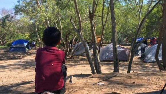 Los niños sufren condiciones muy precarias en el campamento. Foto: EPA, vía BBC Mundo