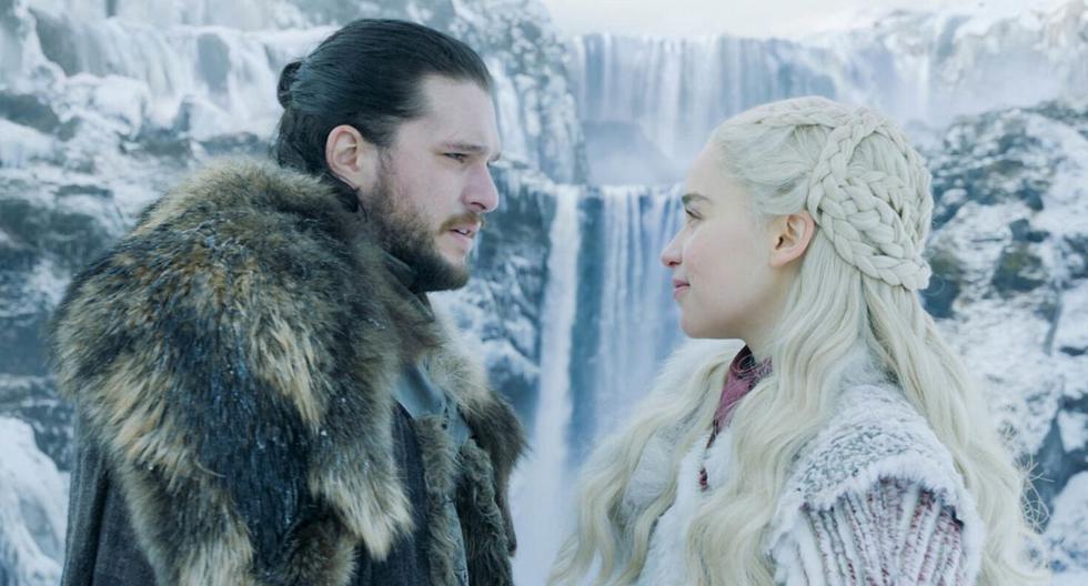 Jon Snow y Daenerys Targaryen fueron personificados por Kit Harington y Emilia Clarke, respectivamente. (HBO)