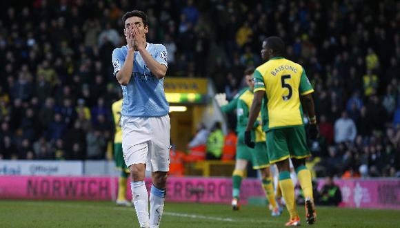 Manchester City igualó con Norwich y perdió chance de ser líder
