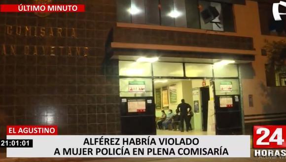 La violación a una mujer policía habría ocurrido en la comisaría de San Cayetano. (24 Horas)