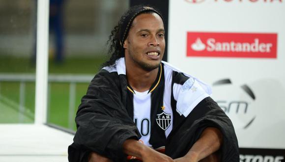 Ronaldinho Gaúcho recordó el título de la Copa Libertadores que ganó con Atlético Mineiro. (Foto: AFP)