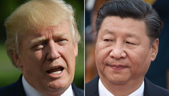 El presidente de Estados Unidos, Donald Trump, y su homólogo de China Xi Jinping. Foto: AFP / MANDEL NGAN Y NICOLAS ASFOURI).