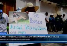 Cajamarca: familiares buscan a escolar de 14 años que desapareció hace una semana