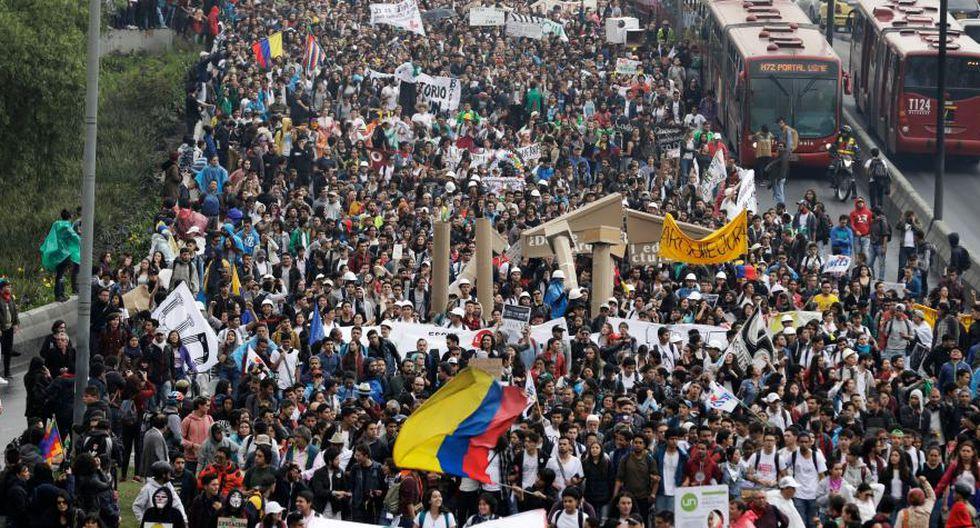 """Un paro nacional está convocado para este 21 de noviembre en Colombia. (Foto: """"El Tiempo"""", GDA)."""