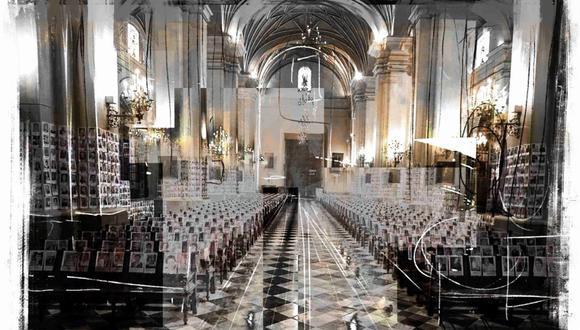 """""""Nos dieron una gran lección, justamente de vida, al colocar las fotos de todos los fallecidos por la plaga en la Catedral de Lima. Perfilando, obviamente a nivel religioso, una 'comunidad imaginada'"""", destaca Carmen McEvoy. (Ilustración: Giovanni Tazza)"""