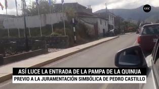 Así amanece Ayacucho previo a la juramentación simbólica de Pedro Castillo