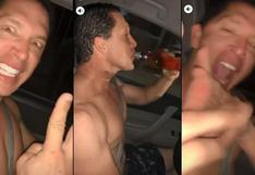 Candidato de Fuerza Popular fue grabado con botella de licor mientras manejaba   #NoTePases