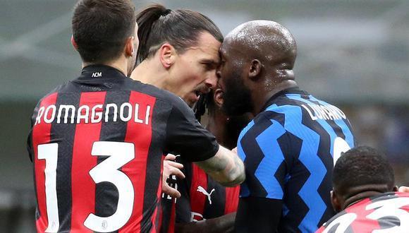 Ibrahimovic y Lukaku tuvieron una fuerte pelea en el Inter vs. Milan