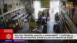 Policía captura a dos sujetos y un menor de edad tras intentar robar un minimarket
