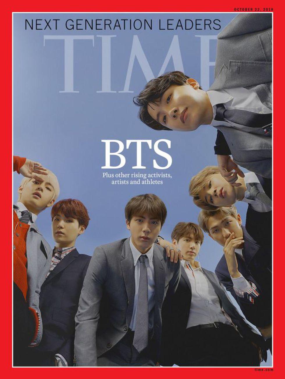 "BTS en la revista ""Time""."