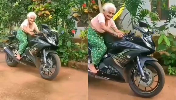 Esta abuela biker se ha convertido en la sensación de las redes sociales (Foto: Instagram)
