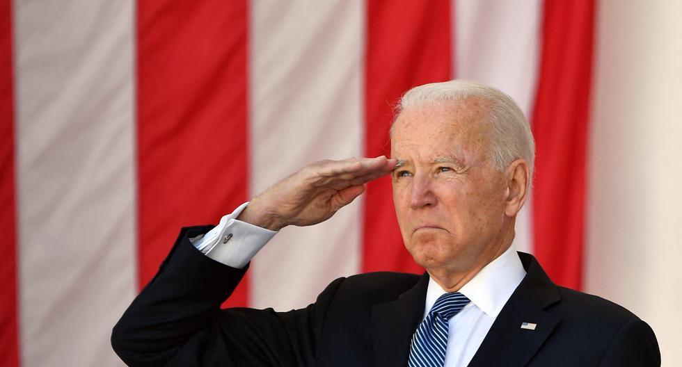 Biden makes a defense of democracy in his Memorial Day speech