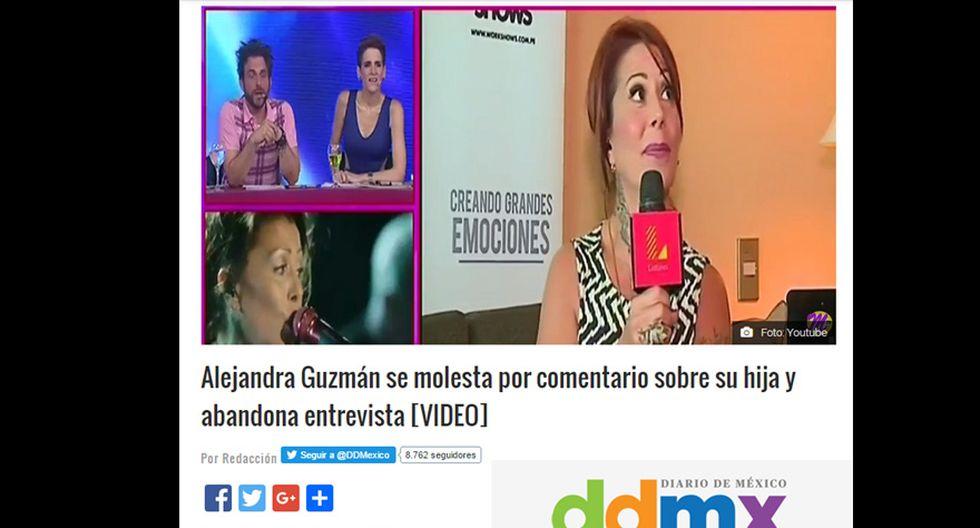 Percance de Alejandra Guzmán y Peluchín llega a prensa mexicana - 3