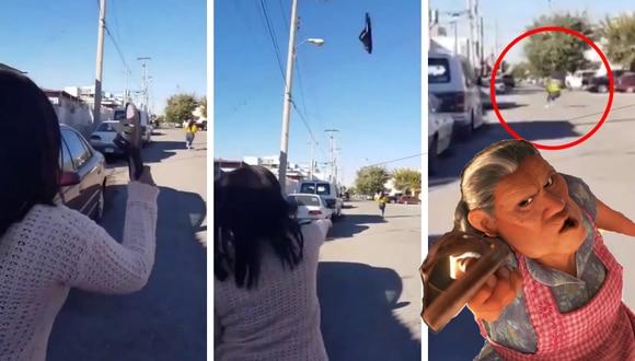 El video del 'poder de la chancla' nivel legendario se hizo viral en redes sociales como Facebook. (Foto: Triqui Huachicolero en Twitter)