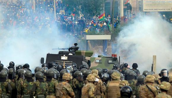 En el Chapare se vivieron escenas casi de guerra. (AFP).
