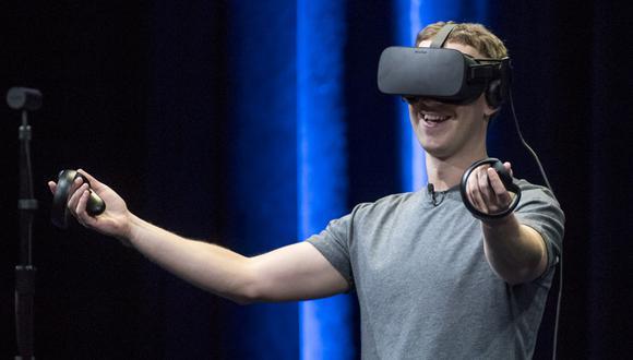 Mark Zuckerberg utilizando los visores de realidad virtual de Oculus. (Foto: Oculus)