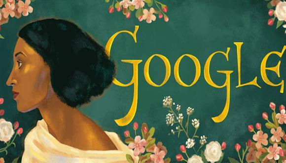 Con un doodle rinden homenaje a la modelo Fanny Eaton. (Foto: Google)