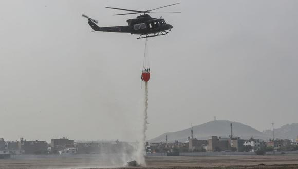 La presentación de estos equipos y la demostración de su uso fueron realizadas en la base aérea de Las Palmas, en Surco. (FAP)