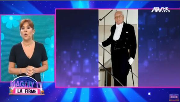 Magaly Medina se quebró al revelar la muerte de su suegro por COVID-19. (Foto: Captura de video)