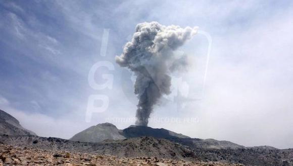 Arequipa: se registra nueva explosión del volcán Sabancaya