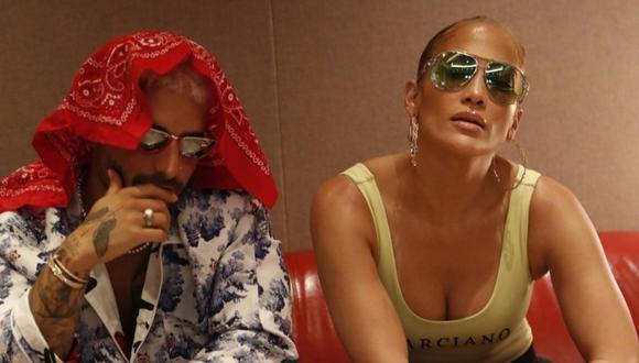 "Jennifer Lopez y Maluma serán protagonistas de la película ""Marry Me"". (Foto: @jlo)"
