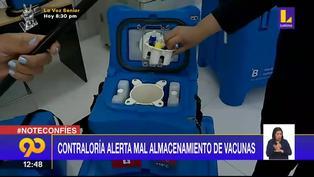 Coronavirus en Perú: Contraloría alerta mal almacenamiento de vacunas