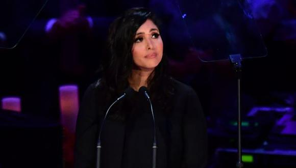 Vanessa Bryant conmovió a todos con el emotivo discurso que le dedicó a su esposo Kobe y a su hija Giannina (Foto: AFP)