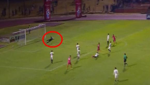 Universitario vs. Huancayo EN VIVO: José Carvallo evitó el 1-0 con espectacular atajada | VIDEO. (Video: Gol Perú / Foto: Captura de pantalla)