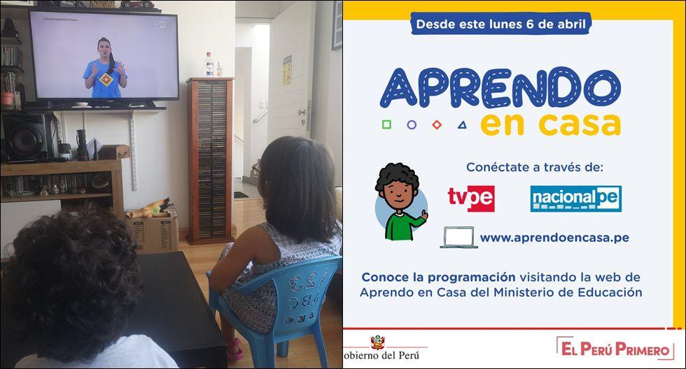 Aprendo en Casa: padres comparten fotos del primer día de clases ...