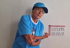 Sofía Salazar, la runner de 81 años que da el ejemplo en la cuarentena