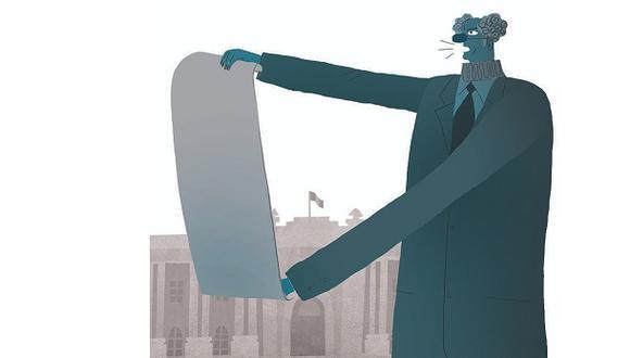 """""""Es difícil definir esta situación del Congreso pero por ahora se me ocurre que se trata de un suicidio moral"""". (Ilustración: Víctor Aguilar Rúa)."""