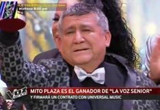 """Mito Plaza se consagró como el ganador de """"La Voz Senior"""" y grabará tema con Universal Music"""