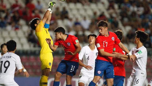 Chile no pudo ante Corea del Sur y tendrá que esperar otros resultado para conocer si continúa en el Mundial Sub 17. | Foto: AFP