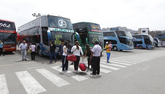 De acuerdo a cifras oficiales del Ministerio de Transportes y Comunicaciones (MTC), como promedio, 146 mil 751 salidas de buses interprovinciales se registraban por mes antes de la pandemia, en este 2020. (Foto: GEC)