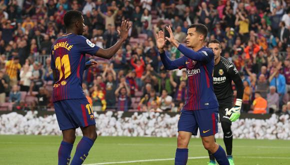 Barcelona no tuvo problemas para derrotar en casa a Villarreal y mantener un invicto histórico en la competición. Messi, Coutinho, Dembélé y Paulinho anotaron. (Foto: Reuters)
