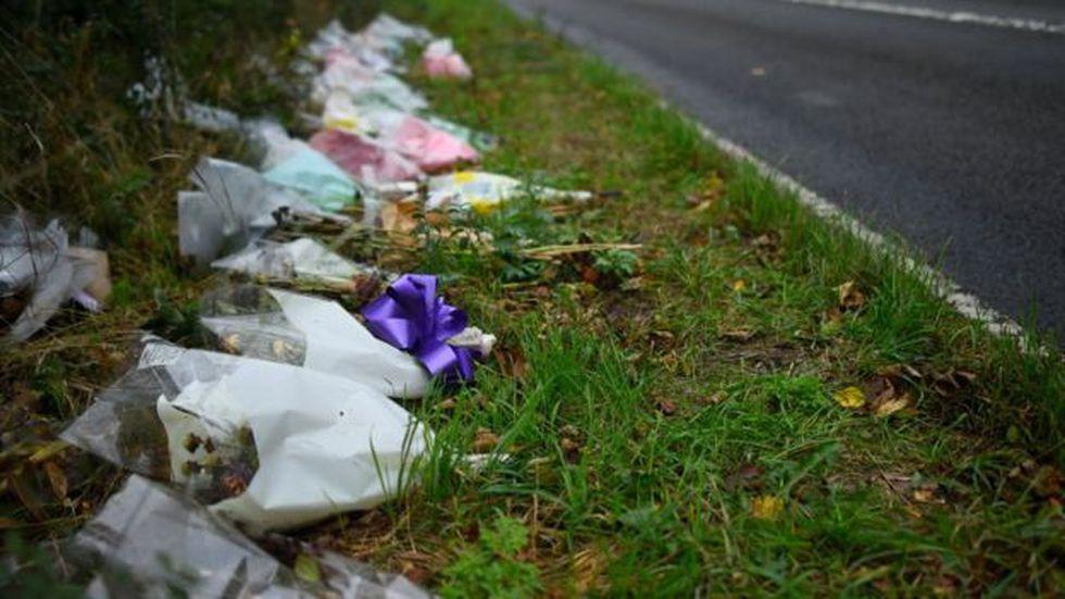 Pueden verse flores en el costado de la carretera donde murió Harry. (Foto:n Petters Summers, via BBC Mundo)